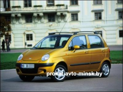 Прокат седана DAEWOO Matiz в Минске без водителя