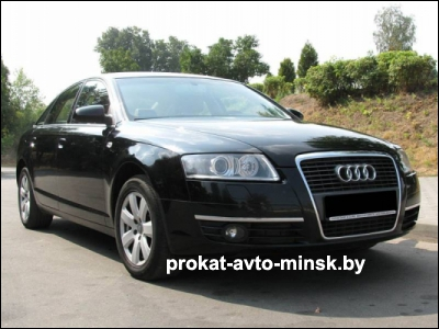 Прокат седана AUDI A6 C6 в Минске без водителя