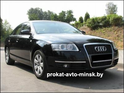Аренда седана AUDI A6 C6 в Минске с водителем