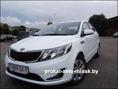 Прокат седана KIA Rio в Минске без водителя