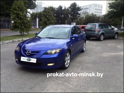 Прокат седана MAZDA 3 в Минске без водителя