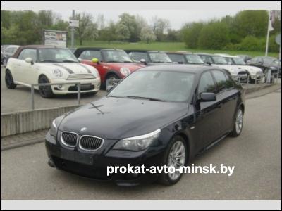 Прокат седана BMW 5-reihe (E60) в Минске без водителя