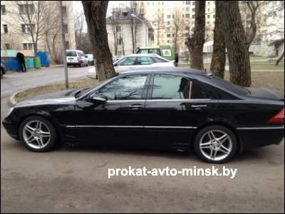 Аренда седана MERCEDES S-klasse (W220) в Минске с водителем
