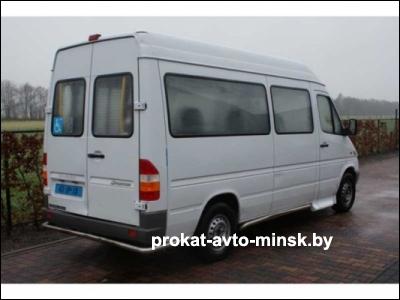 Прокат микроавтобуса MERCEDES Sprinter в Минске без водителя