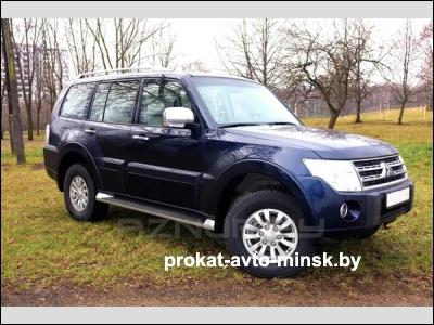Прокат внедорожника MITSUBISHI Pajero в Минске без водителя