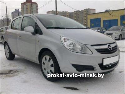 Прокат седана OPEL Corsa в Минске без водителя