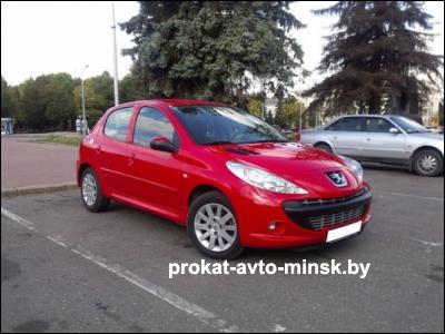 Прокат хетчбэка PEUGEOT 206 в Витебске без водителя