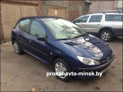 Прокат хетчбэка PEUGEOT 206 в Минске без водителя