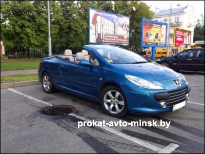 Прокат кабриолета PEUGEOT 307 в Витебске без водителя