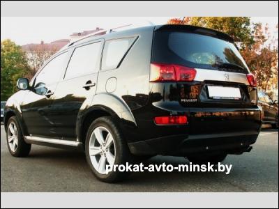 Аренда внедорожника PEUGEOT 4007 в Минске с водителем