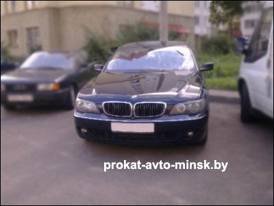 Прокат седана BMW 7-reihe (E65) в Минске без водителя