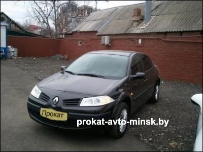 Аренда седана RENAULT Megane в Минске с водителем
