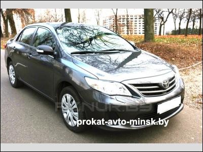 Прокат седана TOYOTA Corolla в Минске без водителя