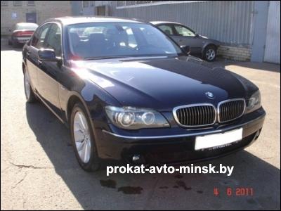 Прокат седана BMW 7-reihe (E66) в Минске без водителя