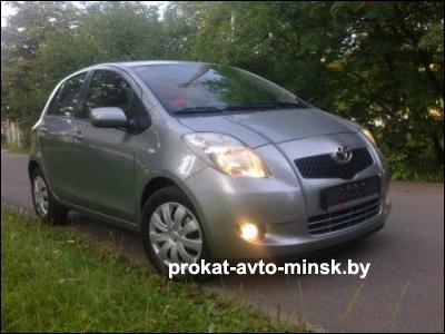 Прокат хетчбэка TOYOTA Yaris в Минске без водителя