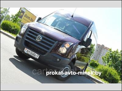 Аренда микроавтобуса VOLKSWAGEN Crafter в Минске с водителем