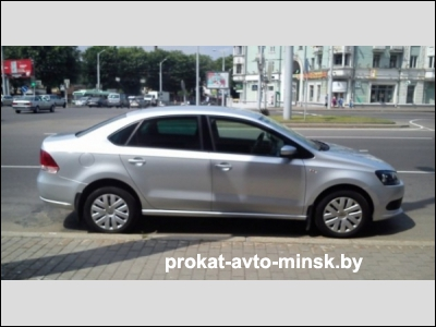 Прокат седана VOLKSWAGEN Polo Sedan в Минске без водителя