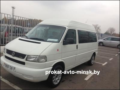 Прокат микроавтобуса VOLKSWAGEN T4 Caravelle в Минске без водителя