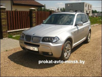 Прокат внедорожника BMW X3 в Минске без водителя