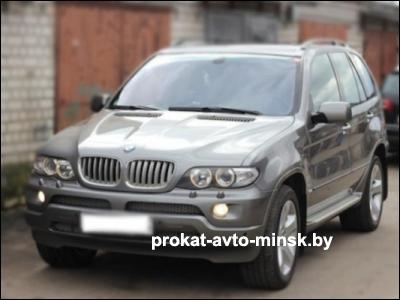 Прокат внедорожника BMW X5 в Минске без водителя