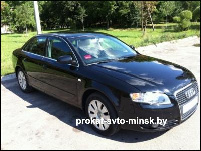 Прокат седана AUDI A4 B7 в Минске без водителя