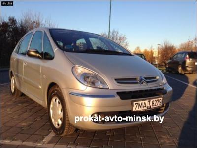 Прокат минивэна CITROEN Xsara Picasso в Минске без водителя