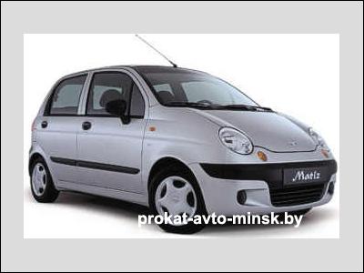 Прокат хетчбэка DAEWOO Matiz в Минске без водителя